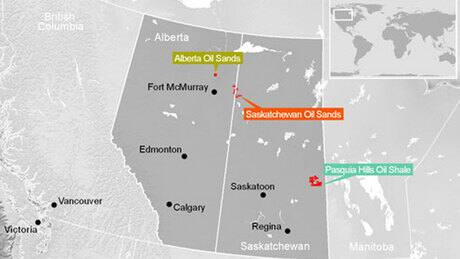 Athabasca Oil Sands Lease Map Saskatchewan Oil Sands Map