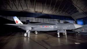 An F-35 joint strike fighter stands in an Ottawa hangar in July, 2010, before an announcement by Defence Minister Peter MacKay. The final price remains a subject of speculation.
