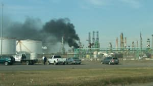 The Co-op refinery in Regina was evacuated because of the fire.