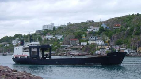 The coastal freighter Astron leaving St. John's June 28, 2007.