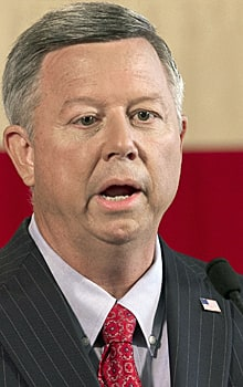 Nebraska Gov. Dave Heineman, shown in August, called the delay 'an exceptional moment for Nebraskans.'