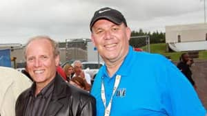 Moncton Mayor George LeBlanc (left) and Ian Fowler at the U2 concert at Magnetic Hill this summer.