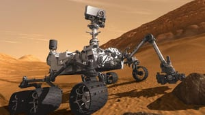 The Mars rover Curiosity, seen in an artist's sketch, is expected to land on the red planet early on Aug. 6.