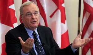 Former Canadian prime minister Paul Martin speaks at the Canadian Embassy in Washington, D.C., on Nov. 16. He says the Kelowna accord was a lost opportunity.