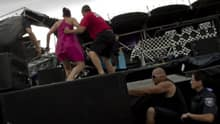 A powerful storm toppled Bluesfest's main stage last year, injuring three people.