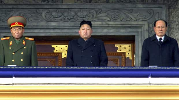 New North Korean leader Kim Jong-un, centre, presides over a national memorial service for his late father Kim Jong-il in Pyongyang, North Korea. Kim Jong-un has been officially named Supreme Commander of North Korea's 1.2-million strong military.