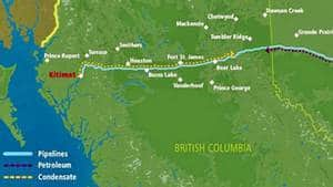 The Northern Gateway pipeline would carry crude oil from Alberta to a supertanker terminal on the West Coast.