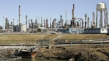 Oil from Western Canada makes it as far east Sarnia, Ont., home to this refinery.