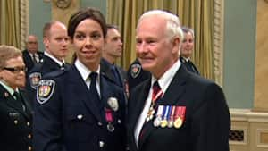 Ottawa police Const. Karen Desaulniers was awarded with the Medal for Bravery after a water rescue attempt just weeks after her brother drowned.