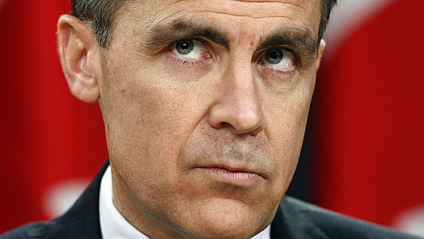 Bank of Canada Governor Mark Carney has kept the bank's benchmark interest rate steady since September 2010.