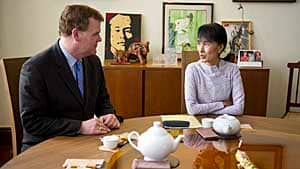 Foreign Affairs Minister John Baird meets with Nobel laureate Aung San Suu Kyi at her home in Rangoon.