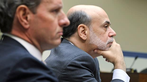 Comments by U.S. Secretary of the Treasury Timothy Geithner, left, and Federal Reserve Board chairman Ben Bernanke were among those included in the released transcripts.