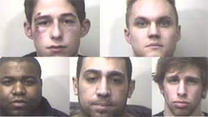 Calgary police say they are concerned for the wellbeing of anyone who might have bought drugs from five men, seen here, who are all facing charges.