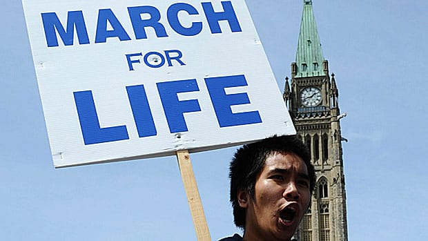 Anti-abortion activists say they have a message for Prime Minister Stephen Harper as they prepare to gather on Parliament Hill Thursday: the debate is on.