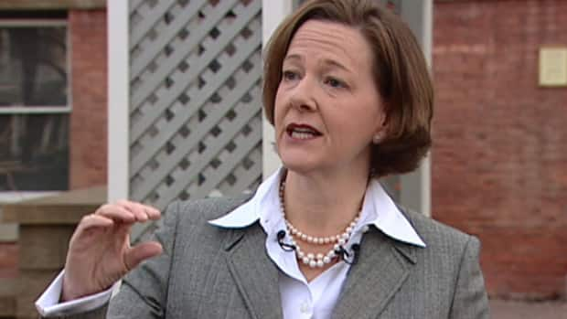 Premier Alison Redford is expected to discuss her statements about federal NDP Leader Tom Mulcair on Thursday.