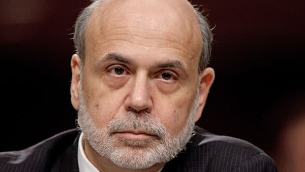 Federal Reserve Chairman Ben Bernanke, shown in April, has said he is open to another round of bond purchases if the U.S. job market does not improve.