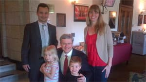 Manitoba Conservative MP Rod Bruinooge had a visit from his family Thursday morning in the lobby adjacent to the Commons, where breakfast was served. This photo he circulated on Twitter shows them posing with Prime Minister Stephen Harper, who was also on a break.