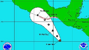 Hurricane Carlotta makes landfall in Mexico