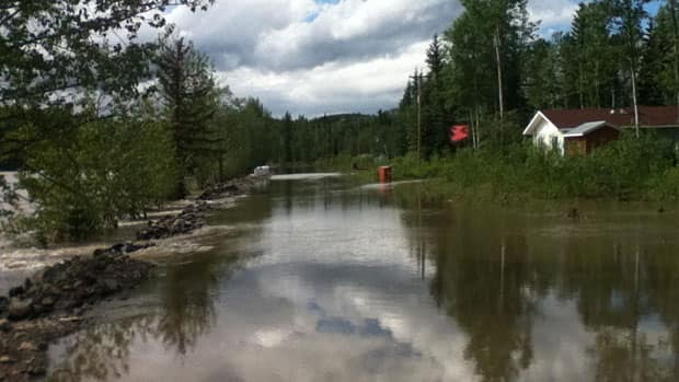 The community of Lower Post on the B.C./Yukon border was flooded by the Liard River last weekend, and some residents were taken to nearby Watson Lake, Yukon.