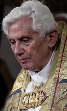 Pope Benedict XVI risked angering Irish Catholics further on Sunday when he called sexual abuse by clergy a 'mystery.' AP file photo