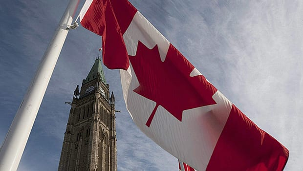 The Canadian flag flies near the Peace Tower on Parliament Hill. As Canadians mark the Canada Day weekend, rules for new or would-be Canadians are among several changes taking place.
