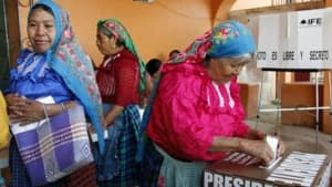 Voters cast ballots in Mexico City on Sunday.