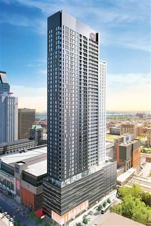 The building will hold 534 apartments, seven levels of parking space, a sports bar and will stand at 48 storeys tall.