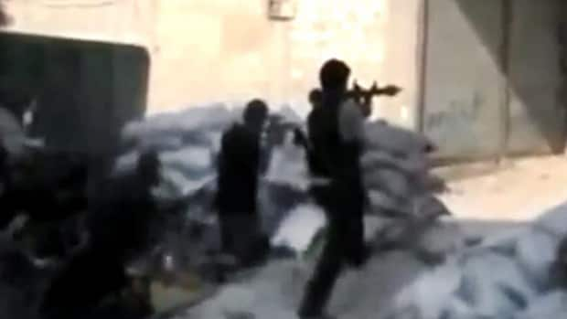 ... in Damascus in this image made from unverified amatuer video on Sunday.