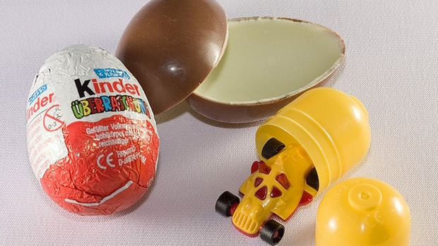 Kinder Eggs are banned in the United States because the plastic toys inside them are deemed to pose a choking hazard to children under three years old.