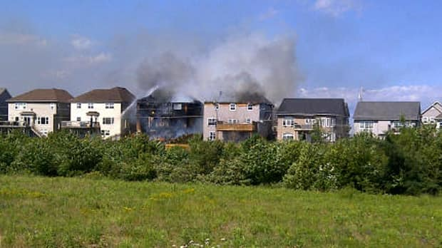 Two homes caught fire in Dartmouth Sunday afternoon.