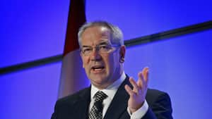 Suncor CEO Steve Williams, shown in May, says the firm hopes to be able to decide by the middle of next year whether to go ahead with three oilsands new projects. Jeff McIntosh/Canadian Press