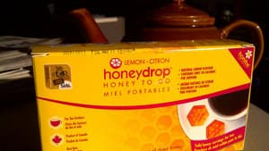 Island Abby currently markets honey drops for sweetening tea or as a sore throat lozenge.