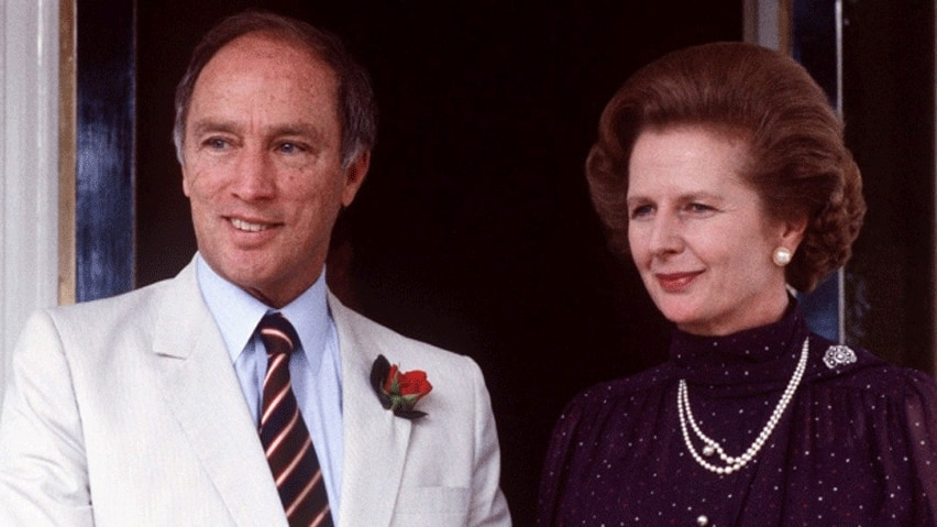 Canadian prime minister Pierre Trudeau is shown with British prime minister Margaret Thatcher in this 1981 photo. Previously confidential documents shed light on the deliberations of the British cabinet when it came to Trudeau's push to patriate the Canadian Constitution.