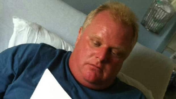 Mayor Rob Ford's press secretary George Christopoulos posted this photo on his Twitter account of the mayor 'taking care of business' in a Toronto hospital.