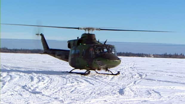 One of the Canadian Forces helicopters participating in Exercise Arctic Ram cut a power transmission line to Yellowknife in February. The Department of National Defence has agreed to pay $1.826 million to the Northwest Territories Power Corporation for damages.