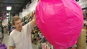 Shawn Hamilton said the flying lanterns, which are powered by a slow-burning flame, are popular items in his Toronto store.