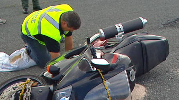 Police officers were St. John's this week for training on investigating motorcycle accidents.