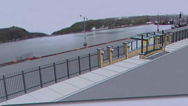 The proposed design for a new fence along the St. John's Harbourfront. CBC