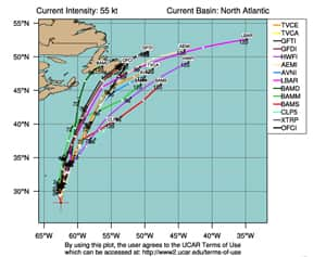 Tropical storm Leslie is likely to head toward Newfoundland.