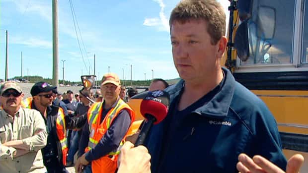 Fabian Smith says he was only acting as a spokesperson, not an instigator, during a wildcat strike at the Vale site in Long Harbour this July. (file photo) CBC