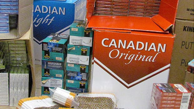 In 2011, the RCMP seized approximately 598,000 cartons/unmarked bags of contraband cigarettes.