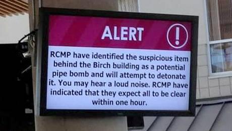 Bomb squad detonates suspicious object at Richmond campus