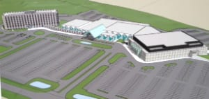 A concept drawing of the expansion plans for the Grey Eagle Casino.