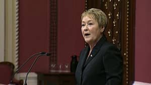 Marois says her priority will be integrity, including 'managing Quebecers' money with the utmost rigour.'