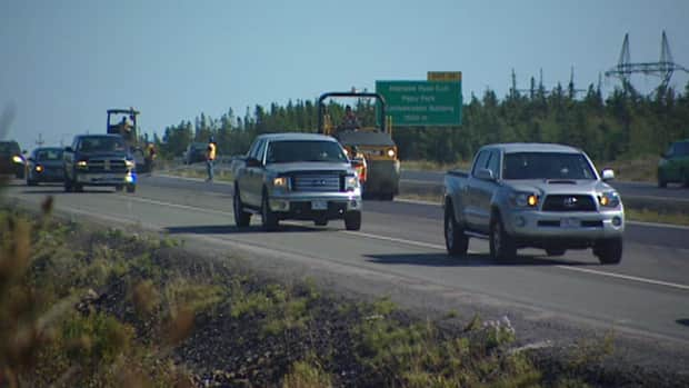 Construction crews work on the Outer Ring Road in St. John's.