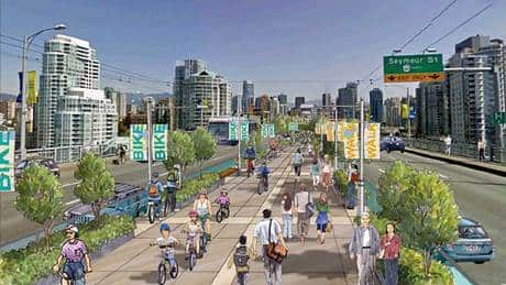 Vancouver eyes bike lanes for Granville and Cambie bridges