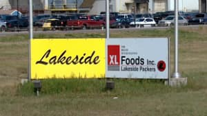 XL Foods said Saturday it is temporarily laying off 2,000 workers from its troubled plant in Brooks, Alta.