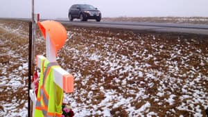 A memorial has been set up on Highway 39 to remember Ashley Richards, the flag person killed in the summer.