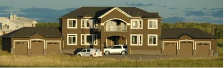 Officials say a crime restraint order was registered against this $1.5 million property in Rocky View County near Calgary.