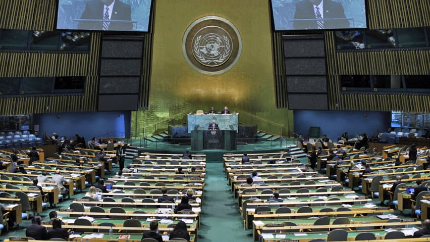 A report presented to the UN General Assembly outraged Israel, the U.S. and Canada after it accused Israeli-owned companies of exploiting Palestinian resources. Canada was among the nations that called for UN special rapporteur Richard Falk's resignation.